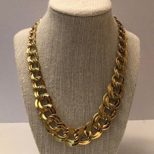 Vintage gold link necklace